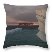 Ice Formations Float In Blue Water Throw Pillow