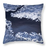 Ice Formations On Small Creek Throw Pillow
