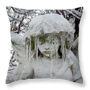 Gothic Angel Ice Throw Pillow
