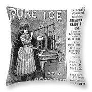Ice Machine, 1891 Throw Pillow