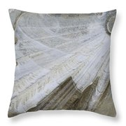 Ice Patterns On Pond, Alberta Canada Throw Pillow