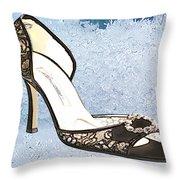 Ice Princess Lace Pumps Throw Pillow