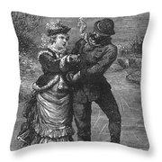 Ice Skating, 19th Century Throw Pillow