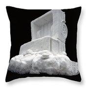 Ice Snow Truckers Throw Pillow
