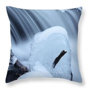 Ice Tombstone Frozen In Time Throw Pillow