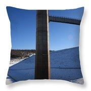 Ice Tower Catwalk 2 Throw Pillow