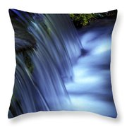 Ice Water Blue Throw Pillow