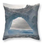 Iceberg With A Natural Arch, Antarctic Throw Pillow