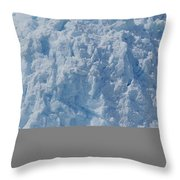 Icebergs Calving From Chenaga Glacier Throw Pillow