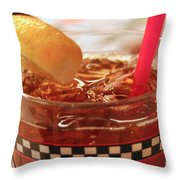 Iced Tea Throw Pillow
