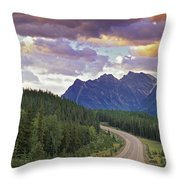 Icefields Parkway, Jasper National Throw Pillow