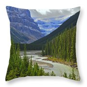 Icefields Parkway Throw Pillow