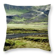 Icelandic Landscape Throw Pillow