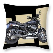 Iconic Harley Davidson Throw Pillow