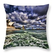 Iconic Landmarks Throw Pillow