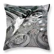 Icy Climb To The Christmas Tree Throw Pillow