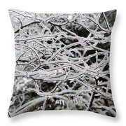 Icy Dreams Throw Pillow