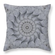 Icy Mandala 1 Throw Pillow