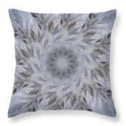Icy Mandala 2 Throw Pillow
