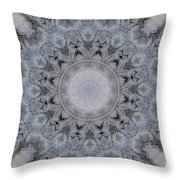 Icy Mandala 4 Throw Pillow