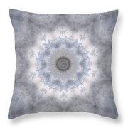 Icy Mandala 5 Throw Pillow