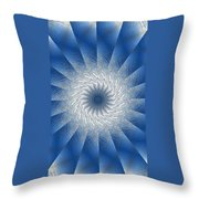 Icy Mandala 7 Throw Pillow