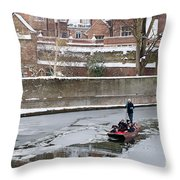 Icy River Throw Pillow