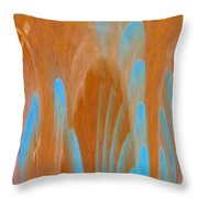 Idol Of Pomos Abstract Throw Pillow
