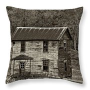 If These Walls Could Talk Sepia Throw Pillow