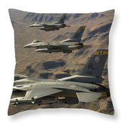 Ighter Jets Return From The Nevada Test Throw Pillow
