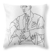 Igor Stravinsky, Russian Composer Throw Pillow