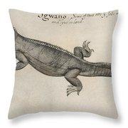 Iguana, 1585 Throw Pillow