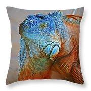 Iguana Close-up Throw Pillow