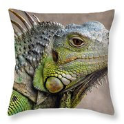 Iguana Profile Throw Pillow