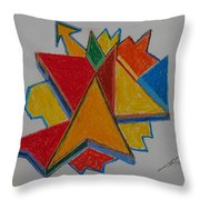 Artist Searching For Direction Throw Pillow