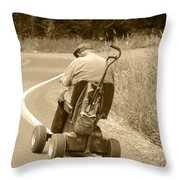 I'll Get There Throw Pillow
