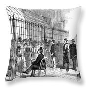 Illegal Voters, 1876 Throw Pillow