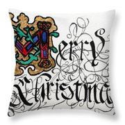Illuminated Letter M Throw Pillow