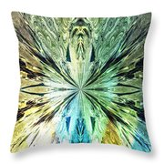 Illumination Of The Glass Butterfly Throw Pillow