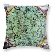Illustration From Atlas Coelestis Throw Pillow