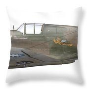Illustration Of A Curtiss P40-c Warhawk Throw Pillow