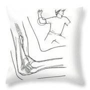 Illustration Of Elbow Ligaments Throw Pillow