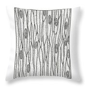 Illustration Of Muscle Types Throw Pillow