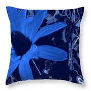 I'm So Blue Throw Pillow