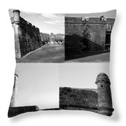 Images Of The Old Castillo Throw Pillow