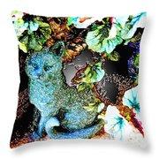 Imaginary Cat Throw Pillow