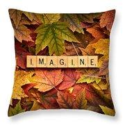 Imagine-autumn Throw Pillow