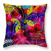 Imagine Bliss Throw Pillow