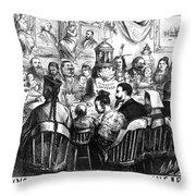 Immigration Cartoon, 1869 Throw Pillow