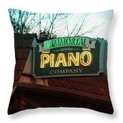 Immortal Piano Co Throw Pillow